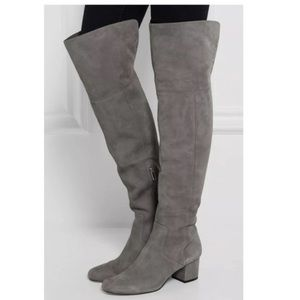 Sam Edelman ELINA Slate Gray Suede Boots
